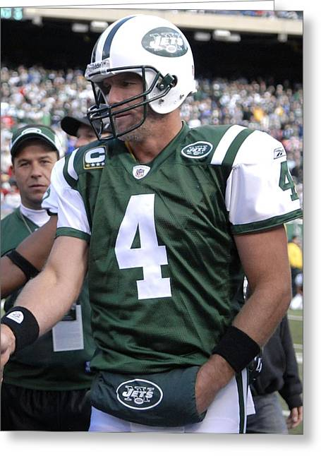 Jet Star Photographs Greeting Cards - Brett Favre Greeting Card by Mountain Dreams