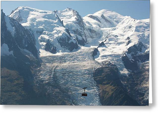 Brevent Cable Car Greeting Card by Ashley Cooper