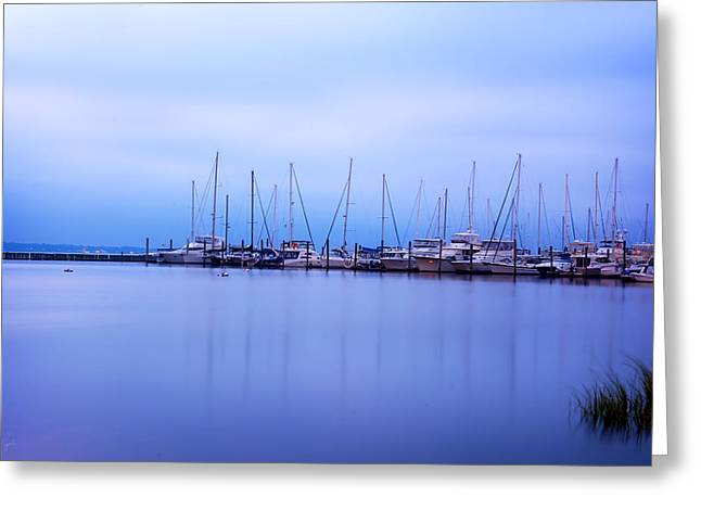 Yachting Greeting Cards - Brewer Yacht Yard At Cowesett Rhode Island Greeting Card by Lourry Legarde