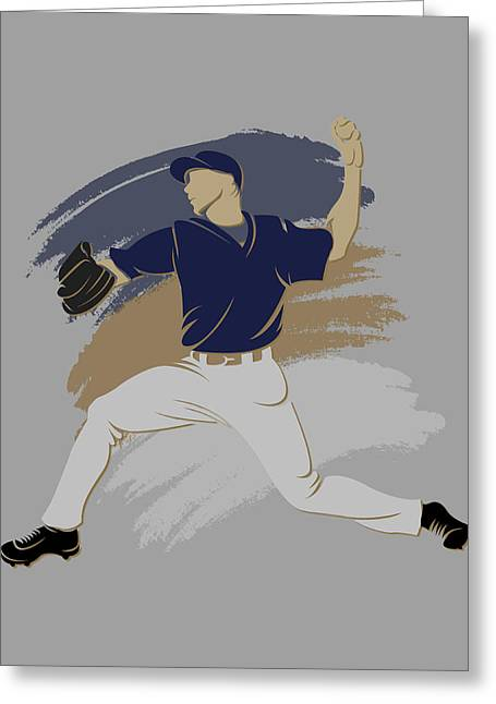 Silouette Greeting Cards - Brewers Shadow Player Greeting Card by Joe Hamilton