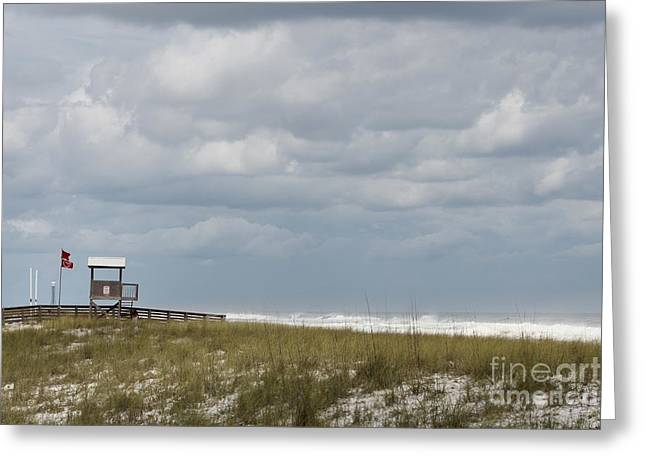 Pensacola Fishing Pier Greeting Cards - Brewing Hurricane Greeting Card by Michelle Powell