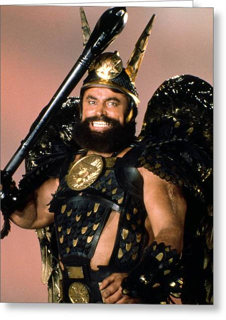 Flash Greeting Cards - Brian Blessed in Flash Gordon  Greeting Card by Silver Screen