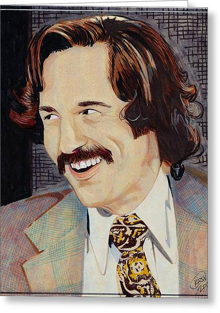 Anchorman Greeting Cards - Brian Fantana Greeting Card by Kyle Willis