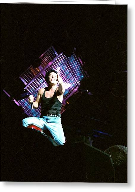 Acdc Greeting Cards - Brian Johnson Greeting Card by Sheryl Chapman Photography