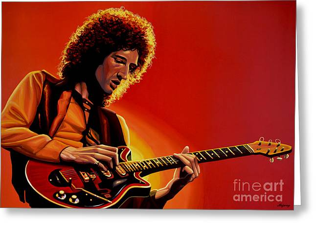 Festival Greeting Cards - Brian May Greeting Card by Paul  Meijering