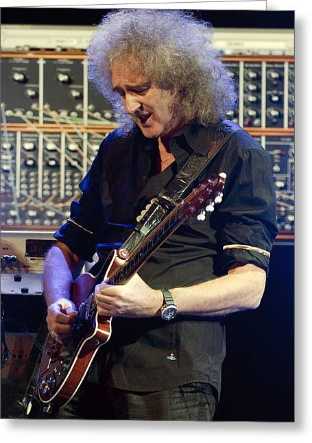 British Celebrities Photographs Greeting Cards - Brian May, Starmus Festival 2011 Greeting Card by Science Photo Library