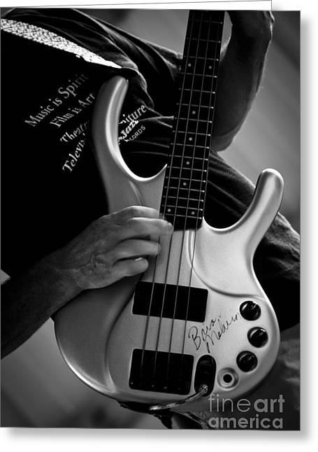 Autographed Guitars Greeting Cards - Brian Melvin Autographed Guitar Greeting Card by Roger Bailey