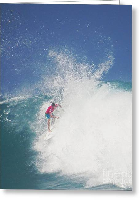 Surfing Photos Greeting Cards - Brian Toth Pro Surfer Greeting Card by Scott Cameron