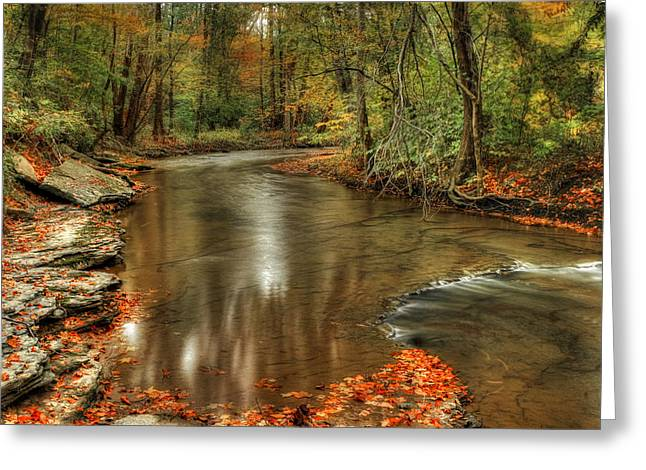Russett Greeting Cards - Briar Creek Greeting Card by Dayna Cain