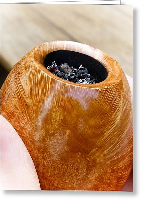 Briar Pipe Bowl Greeting Card by Frank Tschakert