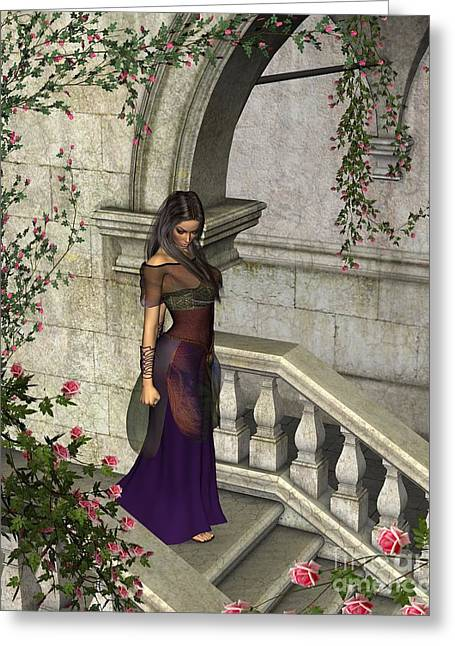 Briar Rose Greeting Card by Fairy Fantasies