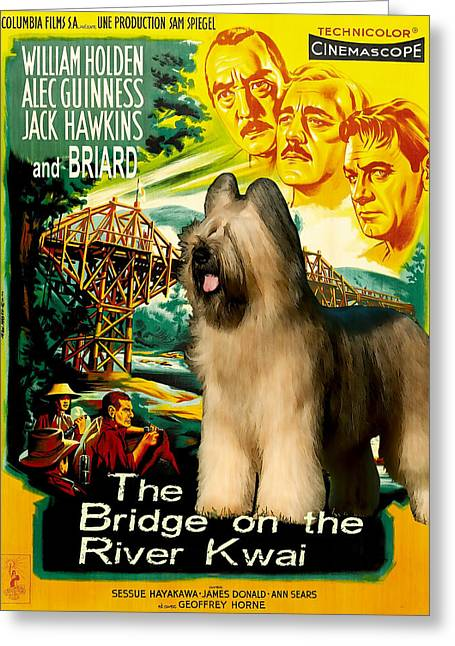 Lovers Art On Print Greeting Cards - Briard Art Canvas Print - The Bridge on the River Kwai Movie Poster Greeting Card by Sandra Sij