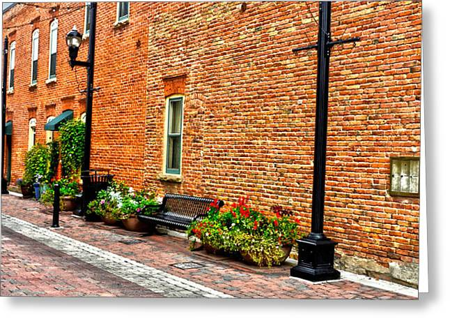 Brick Alley Greeting Card by Baywest Imaging