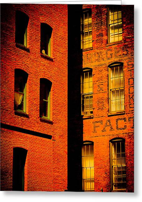 Dwell Greeting Cards - Brick And Glass Greeting Card by Matthew Blum
