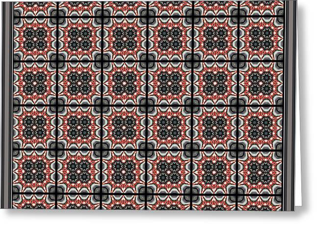 Grey Tapestries - Textiles Greeting Cards - Brick and Mortar Greeting Card by Barbara Griffin
