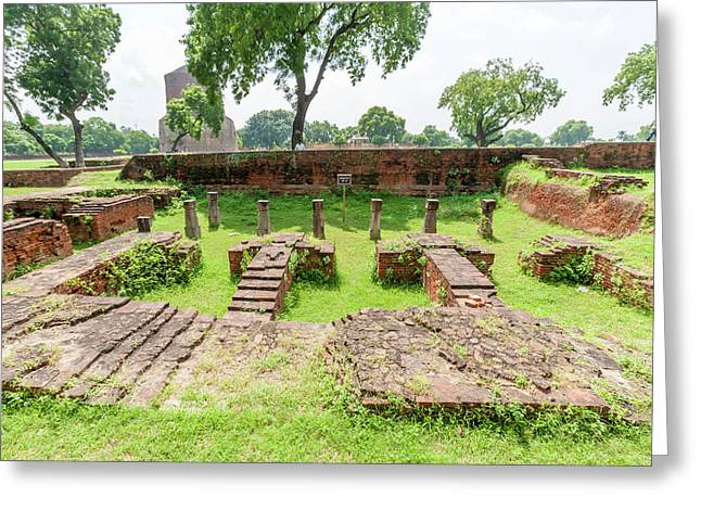 Brick And Stone Remains In Sarnath Greeting Card by Ali Kabas