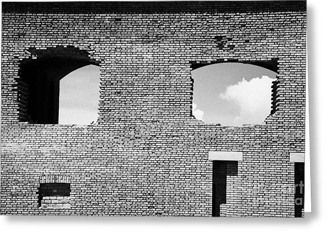 brick construction of the walls of fort jefferson dry tortugas national park florida keys usa Greeting Card by Joe Fox