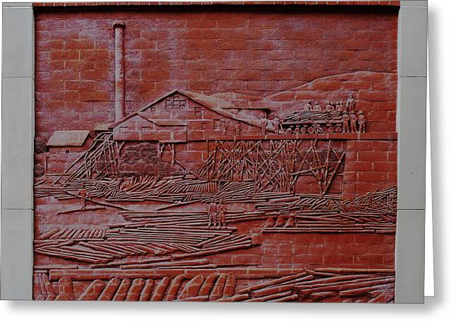Williamsport Greeting Cards - Brick Lumber Mill  Greeting Card by Richard Reeve