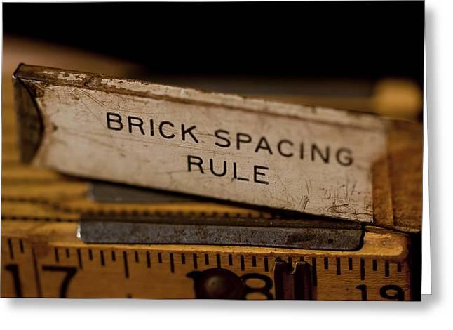 Tradesman Greeting Cards - Brick Masons Rule Greeting Card by Wilma  Birdwell