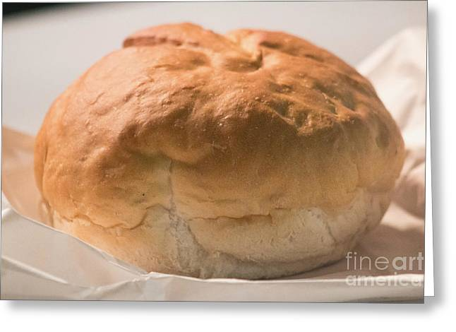 Loaf Of Bread Greeting Cards - Brick Oven Bread Greeting Card by Howard Tenke