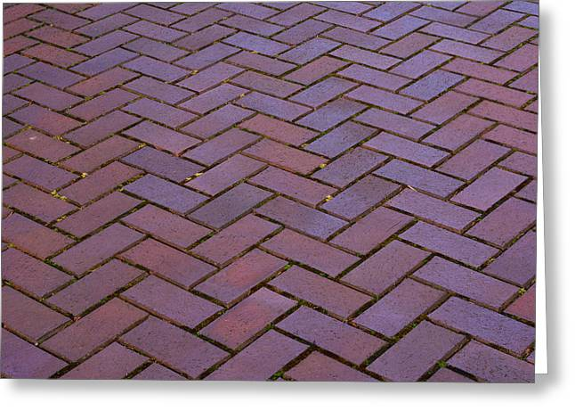 Crosswalk Greeting Cards - Brick Pattern 2013 Greeting Card by Roger Reeves  and Terrie Heslop