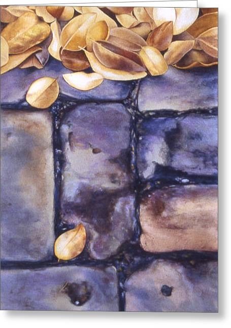 Carlynne Hershberger Greeting Cards - Brick Walk Greeting Card by Carlynne Hershberger