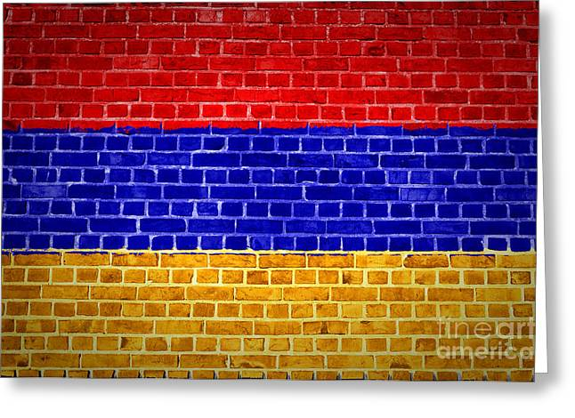 Armenia Greeting Cards - Brick Wall Armenia Greeting Card by Antony McAulay