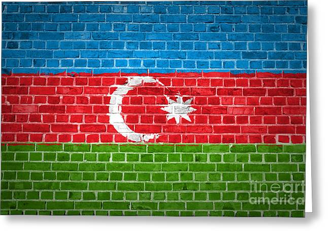 Stonewall Greeting Cards - Brick Wall Azerbaijan Greeting Card by Antony McAulay