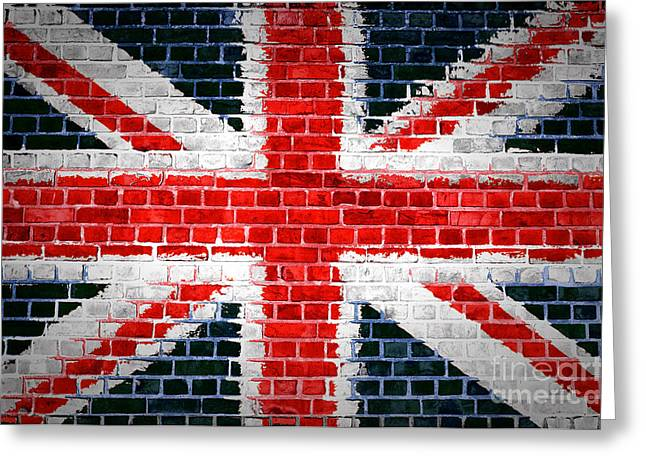 Brick Wall Britain Greeting Card by Antony McAulay