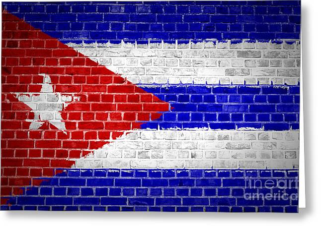 Stonewall Greeting Cards - Brick Wall Cuba Greeting Card by Antony McAulay