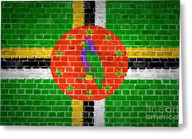 Stonewall Greeting Cards - Brick Wall Dominica Greeting Card by Antony McAulay