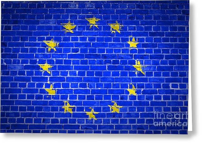 Brick Wall European Union Greeting Card by Antony McAulay
