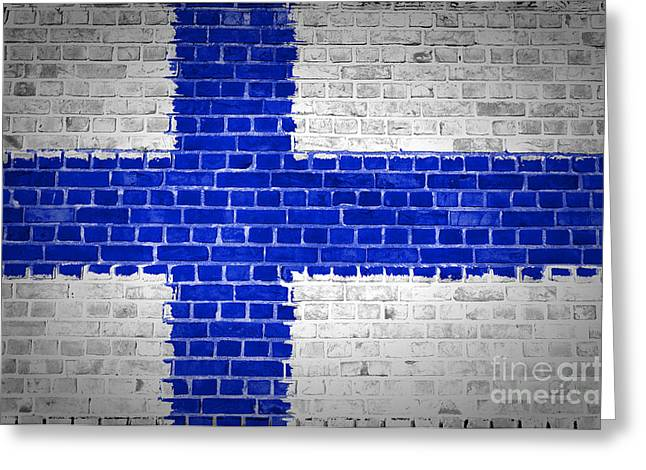 Stonewall Greeting Cards - Brick Wall Finland Greeting Card by Antony McAulay