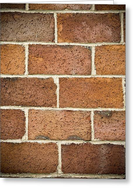 Bricks Greeting Cards - Brick Wall Greeting Card by Frank Tschakert