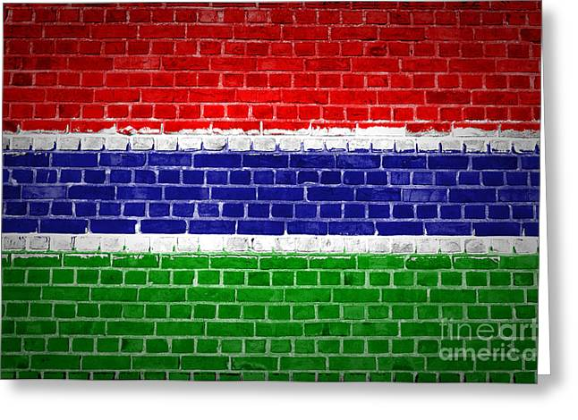Stonewall Greeting Cards - Brick Wall Gambia Greeting Card by Antony McAulay