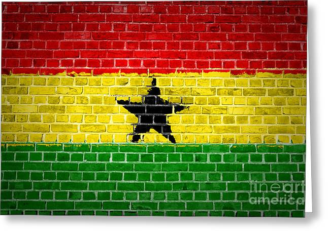 Stonewall Greeting Cards - Brick Wall Ghana Greeting Card by Antony McAulay