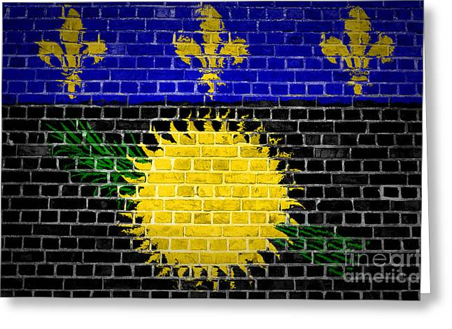 Stonewall Greeting Cards - Brick Wall Guadeloupe Greeting Card by Antony McAulay