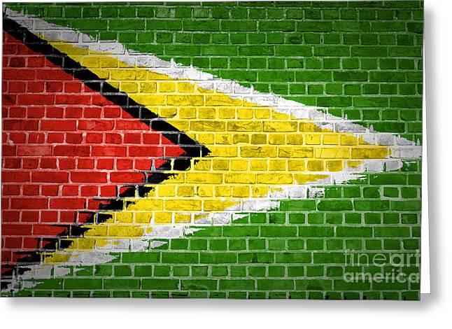 Guyana Greeting Cards - Brick Wall Guyana Greeting Card by Antony McAulay