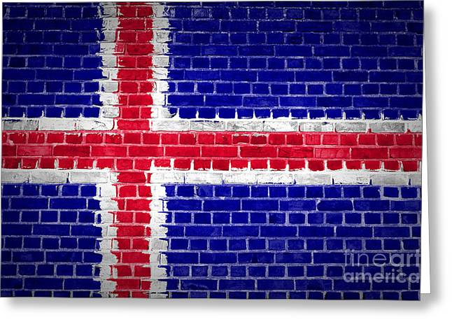Stonewall Greeting Cards - Brick Wall Iceland Greeting Card by Antony McAulay