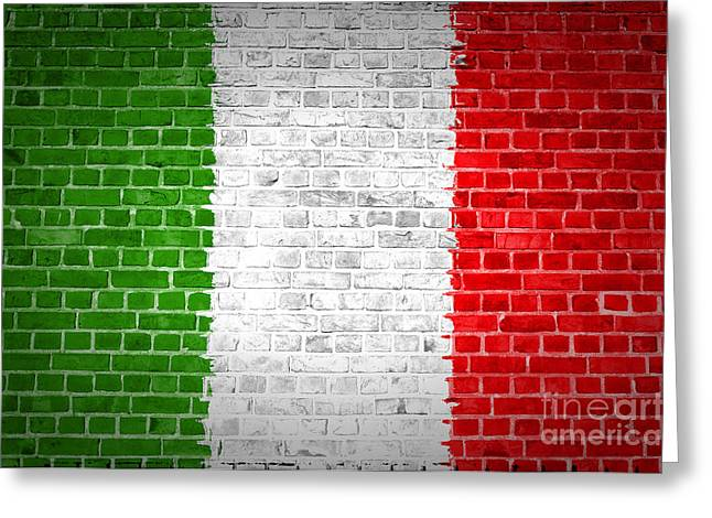 Stonewall Greeting Cards - Brick Wall Italy Greeting Card by Antony McAulay