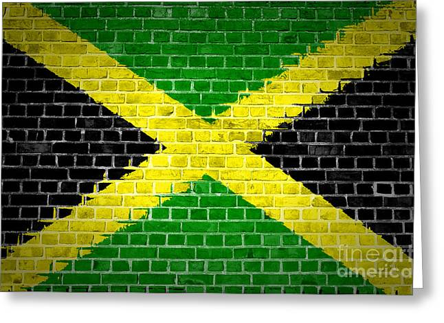 Stonewall Greeting Cards - Brick Wall Jamaica Greeting Card by Antony McAulay