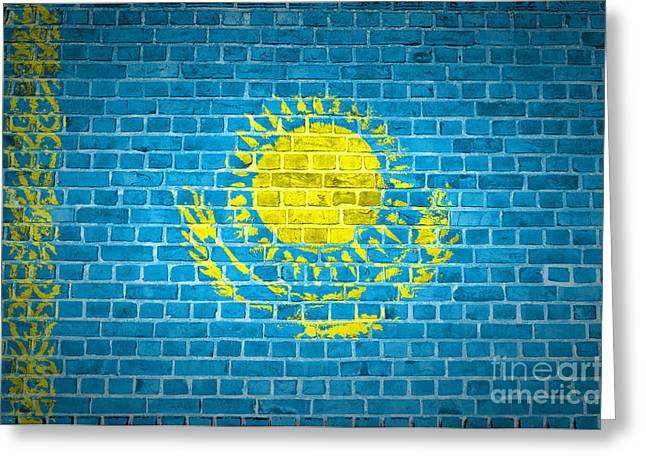 Stonewall Greeting Cards - Brick Wall Kazakhstan Greeting Card by Antony McAulay