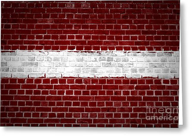 Stonewall Greeting Cards - Brick Wall Latvia Greeting Card by Antony McAulay