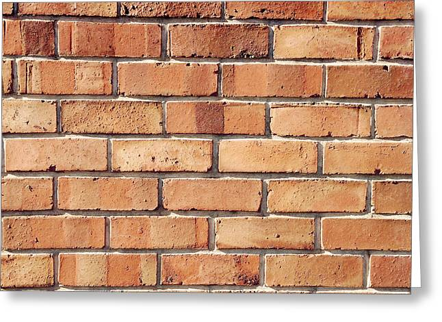 Surface Greeting Cards - Brick wall Greeting Card by Les Cunliffe