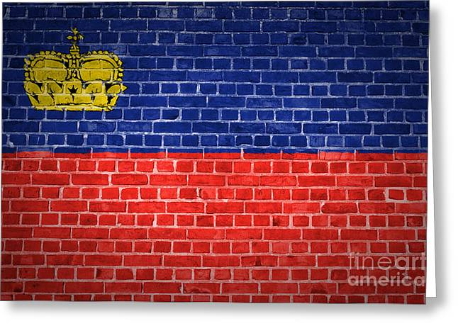 Stonewall Greeting Cards - Brick Wall Liechtenstein Greeting Card by Antony McAulay