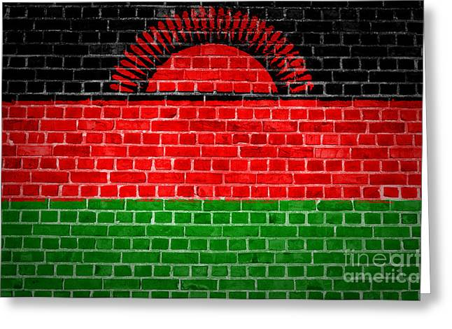 Stonewall Greeting Cards - Brick Wall Malawi Greeting Card by Antony McAulay