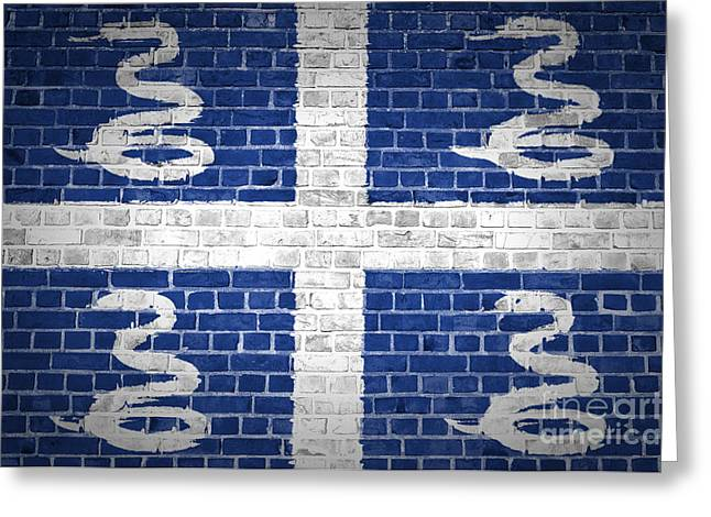 Stonewall Greeting Cards - Brick Wall Martinique Greeting Card by Antony McAulay