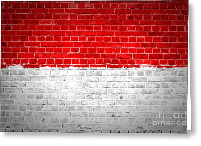 Stonewall Greeting Cards - Brick Wall Monaco Greeting Card by Antony McAulay