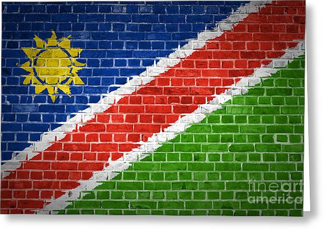 Stonewall Greeting Cards - Brick Wall Namibia Greeting Card by Antony McAulay