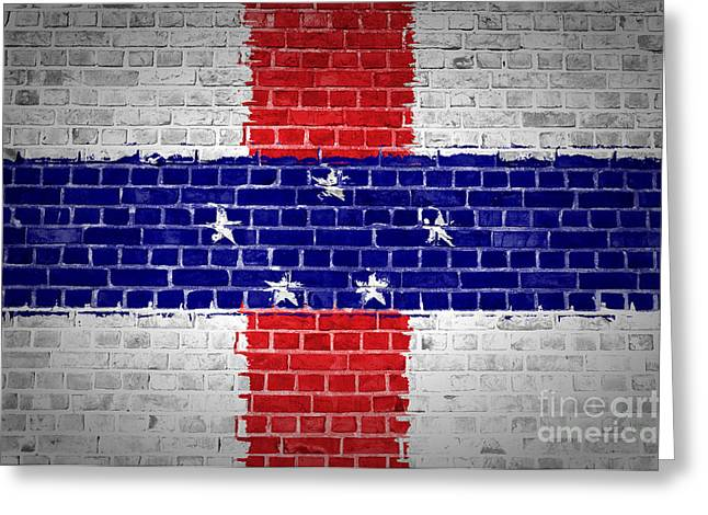 Stonewall Greeting Cards - Brick Wall Netherlands Antilles Greeting Card by Antony McAulay